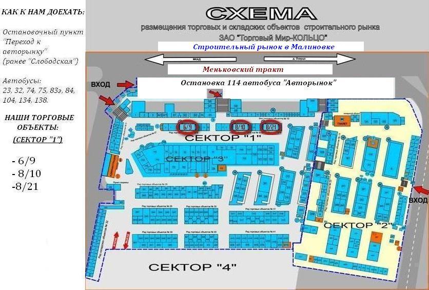 Строительный рынок Малиновка