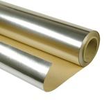 Фольга Пленка гидро-пароизоляционная для бани алюминиевая на основе крафт-бумаги TeploStroyPM