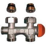 Кран термостатический для стальных радиаторов нижнего подключения HERZ 3000 арт 1369291 с возможностью подключения термоголовки 28*1,5
