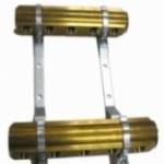 Гребенка коллектор распределительный парный латунь на 2 выхода для отопления водоснабжения и теплых полов